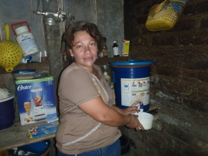 One of the first beneficiaries of the NicaAgua Project